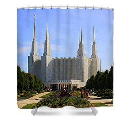 Mormon Temple Dc Shower Curtain by Patti Whitten