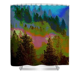 Morning Arrives In The Pacific Northwest Shower Curtain