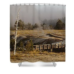 Morning At Castle Bridge Shower Curtain
