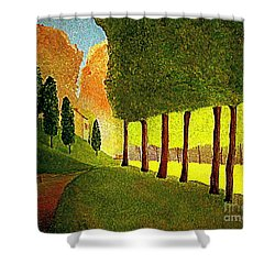 Chambord Morning By Bill O'connor Shower Curtain