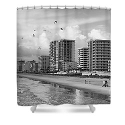 Morning At Daytona Beach Shower Curtain