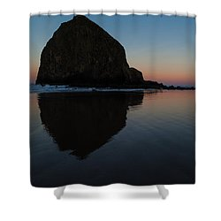 Morning At Haystack Shower Curtain by Mike Reid