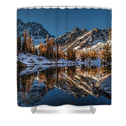 Morning At Horseshoe Lake Shower Curtain by Mike Reid