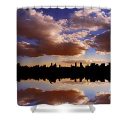 Morning At The Reservoir New York City Usa Shower Curtain
