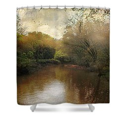 Shower Curtain featuring the photograph Morning At The River by John Rivera