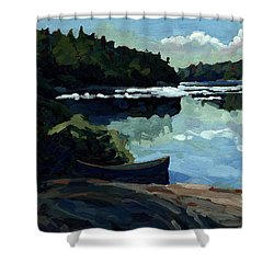 Morning Beach Shower Curtain by Phil Chadwick