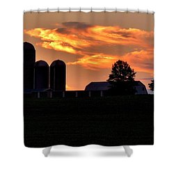 Morning Blush Shower Curtain by Robert Geary