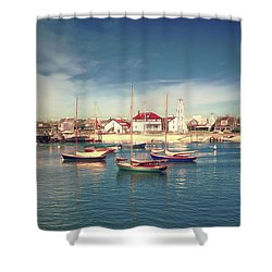 Morning Boats Nantucket Shower Curtain