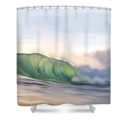 Shower Curtain featuring the painting Morning Break by Dawn Harrell