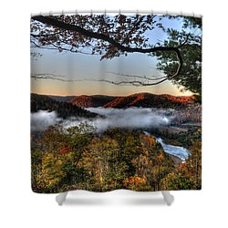 Morning Cheat River Valley Shower Curtain