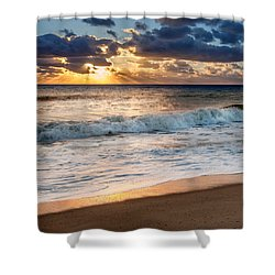Morning Clouds Square Shower Curtain