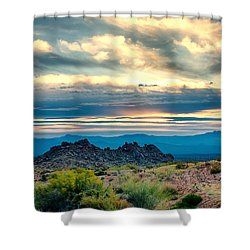 Morning Desert Glow Shower Curtain