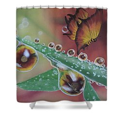 Morning Dew Shower Curtain by Dianna Lewis