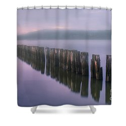 Morning Fog Shower Curtain by Veikko Suikkanen