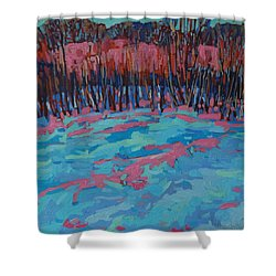 Morning Forest Shower Curtain by Phil Chadwick