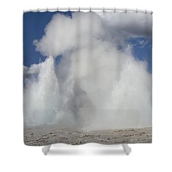 Morning-fountain Dual Eruption Shower Curtain