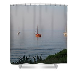 Shower Curtain featuring the photograph Morning by George Katechis