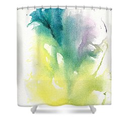 Shower Curtain featuring the painting Morning Glory Abstract by Frank Bright