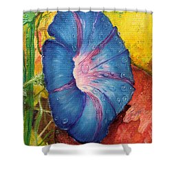 Morning Glory Bloom In Apples Shower Curtain