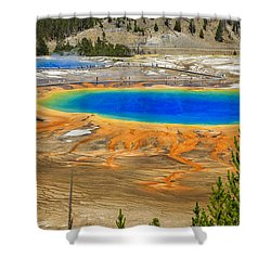 Grand Prismatic Geyser Yellowstone National Park Shower Curtain by Edward Fielding