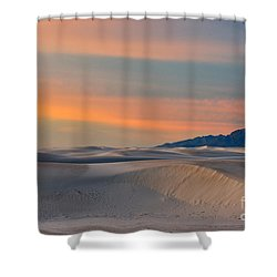 Morning Glory In White Sands Shower Curtain by Sandra Bronstein