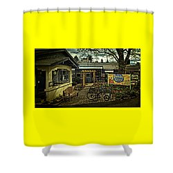 Shower Curtain featuring the photograph Morning Glory Cafe Ashland by Thom Zehrfeld