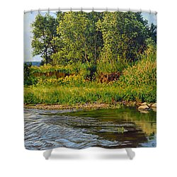 Morning Glow Shower Curtain by Bruce Morrison