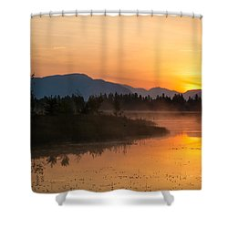 Shower Curtain featuring the photograph Morning Has Broken by Jack Bell