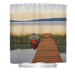 Shower Curtain featuring the painting Morning Has Broken by Kenneth M  Kirsch