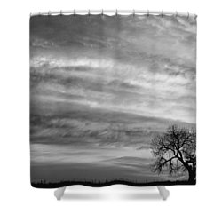 Morning Has Broken Like The First Dawning Landscape Bw Shower Curtain by James BO  Insogna
