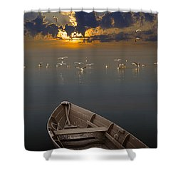 Morning Has Broken Like The First Morning Shower Curtain by Randall Nyhof