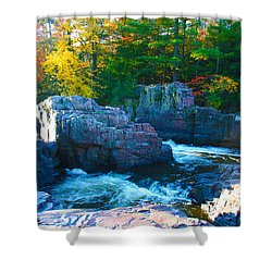 Morning In Eau Claire Dells Shower Curtain by Tiffany Erdman