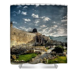 Morning In Jerusalem Hdr Shower Curtain