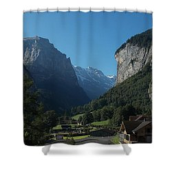 Morning In Lauterbrunnen Shower Curtain