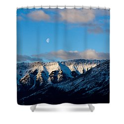 Morning In Mountains Shower Curtain