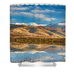 Morning In Pirin Mountain Shower Curtain