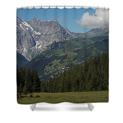 Morning In The Alps Shower Curtain