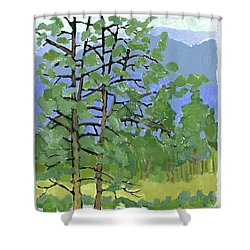 Morning In The Hills Shower Curtain