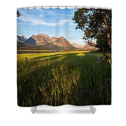 Shower Curtain featuring the photograph Morning In The Mountains by Jack Bell