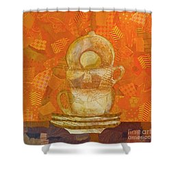 Morning Joe Shower Curtain by Desiree Paquette