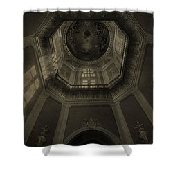 Morning Light On The Golden Dome Ceiling Shower Curtain by Dan Sproul