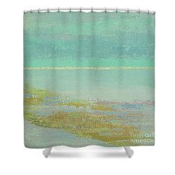 Morning Low Tide Shower Curtain