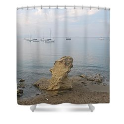 Shower Curtain featuring the photograph Morning Mist 2 by George Katechis