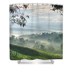 Morning Mist Shower Curtain by Heiko Koehrer-Wagner