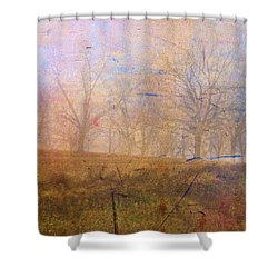 Morning Mist Shower Curtain by Jan Amiss Photography