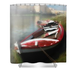 Morning Mist On The Arno River Italy Shower Curtain by Mike Nellums