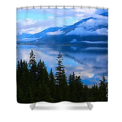 Morning Mist Rising Shower Curtain