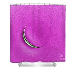 Morning Moon Pink Shower Curtain