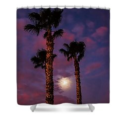 Morning Moon Shower Curtain by Robert Bales