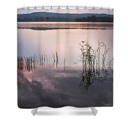 Morning Nocturne. Ladoga Lake. Northern Russia  Shower Curtain by Jenny Rainbow
